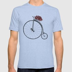 Christmas Bicycle Mens Fitted Tee Athletic Blue SMALL