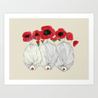 Poppy Girls Art Print