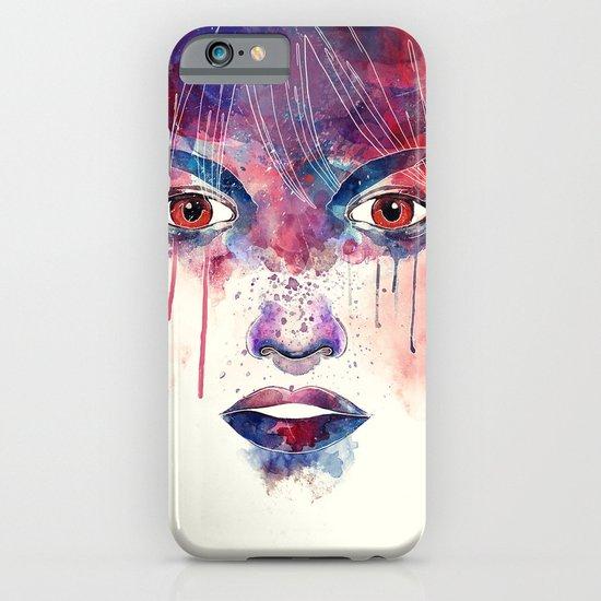 Um rosto aquarelável iPhone & iPod Case