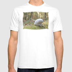 Smurf hat mushroom White Mens Fitted Tee SMALL