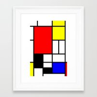 Mondrian Framed Art Print