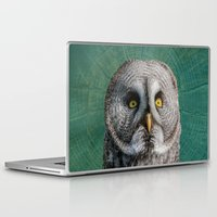Laptop & iPad Skin featuring GREY OWL by Catspaws