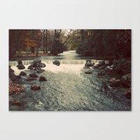 Rocky River Waterfall En… Canvas Print