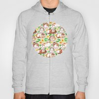 Guinea Pigs and Daisies in Watercolor Hoody