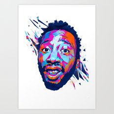 Ol' Dirty Bastard: Dead Rappers Serie Art Print