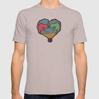 DINO LOVE  Mens Fitted Tee Cinder SMALL