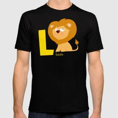 l for lion SMALL Black Mens Fitted Tee