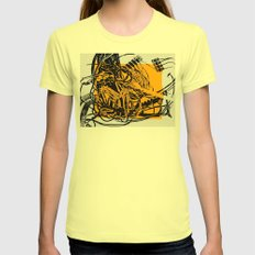 COURTCIRCUIT Womens Fitted Tee Lemon SMALL