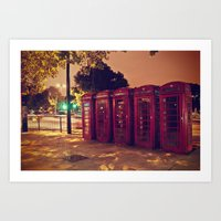 London Night Life  Art Print