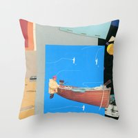 Aquatic Huntsman Throw Pillow
