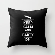 Final Fantasy 7: Keep Kalm Throw Pillow