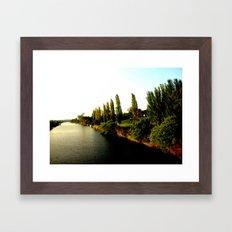 Thompson River @ Twilight Framed Art Print