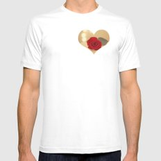 Romance Novel White SMALL Mens Fitted Tee