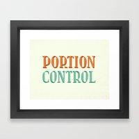Portion Control Framed Art Print