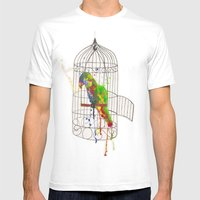 Cockatoo Mens Fitted Tee White SMALL