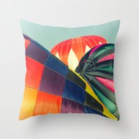Balloon Love: Up Up And … Throw Pillow