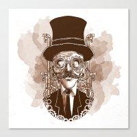 Steampunk Sir Canvas Print