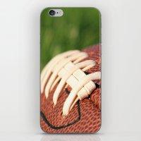 Football Leather & Stitching iPhone & iPod Skin
