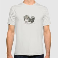 Fancy Pup Mens Fitted Tee Silver SMALL