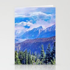 Neverland mountains Stationery Cards