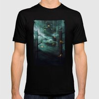 In The Woods Tonight Mens Fitted Tee Black SMALL