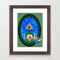 Gravity Falls: Hyrule Fa… Framed Art Print