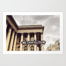Metropolitain - Paris Metro Sign Art Print