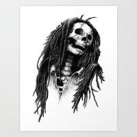 The Legend Of Reggae Art Print