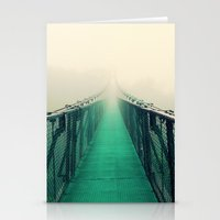 suspension bridge Stationery Cards