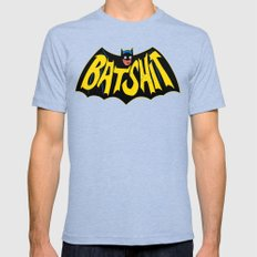 BATSHIT Mens Fitted Tee Tri-Blue SMALL