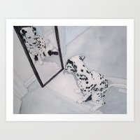 Roxie the Dalmatian 1 Art Print