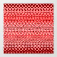 Mosaic Red Canvas Print