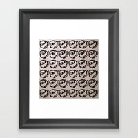 Rows Of Flowers, Pink Framed Art Print