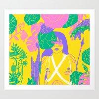 Brazilian Native Girl Art Print