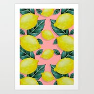 Art Print featuring WHEN LIFE GIVES YOU LEMO… by Karla Amber