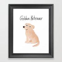 Golden Retriever - Cute … Framed Art Print
