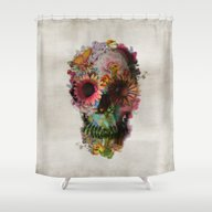 Shower Curtain featuring SKULL 2 by Ali GULEC