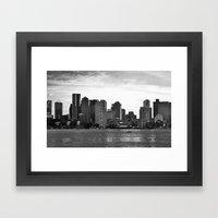 Boston, I love you. Framed Art Print