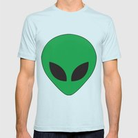 Alien Mens Fitted Tee Light Blue SMALL