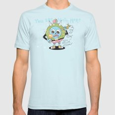 You are Worth More Mens Fitted Tee Light Blue SMALL