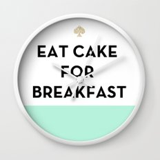 Eat Cake for Breakfast - Kate Spade Inspired Wall Clock