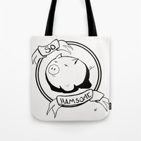 So Hamsome - Black Tote Bag
