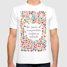 Imagination by Anna Carol & Garima Dhawan SMALL Mens Fitted Tee White