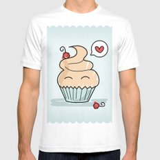 Cupcake in love Mens Fitted Tee White SMALL