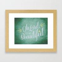 Beautiful One Framed Art Print