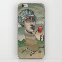 RED APPLE RACCOON iPhone & iPod Skin