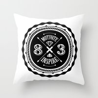 Motivate & Inspire Throw Pillow