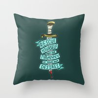 The Tyranny Of Your Own … Throw Pillow