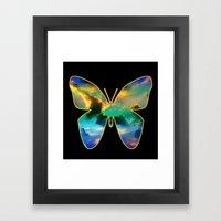 CLOUD BUTTERFLY Framed Art Print