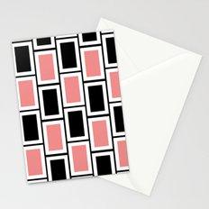 Black and Pink Bricks Stationery Cards